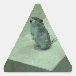 ¡Los aullidos del ratón del asesino (leucogaster Pegatina Triangular