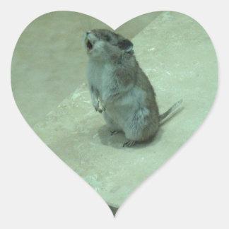 ¡Los aullidos del ratón del asesino (leucogaster Pegatina En Forma De Corazón