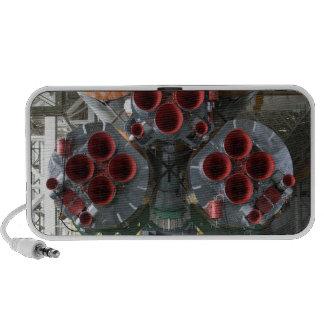 Los aumentadores de presión de la nave espacial de notebook altavoz