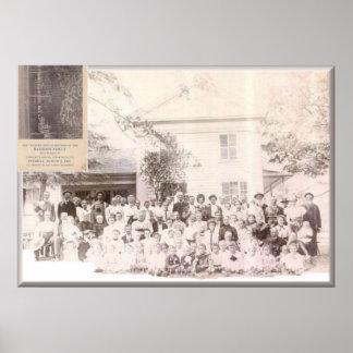 Los aumentos de la reunión 1908 de Mattison, PA Póster