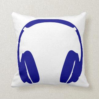 Los auriculares lanzan (azul marino) cojín