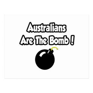 ¡Los australianos son la bomba Postales