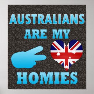 Los australianos son mi Homies Póster