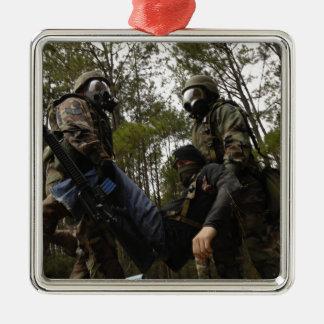Los aviadores de la fuerza aérea de los E.E.U.U. Adorno Navideño Cuadrado De Metal