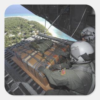 Los aviadores eliminan una plataforma de las pegatina cuadrada