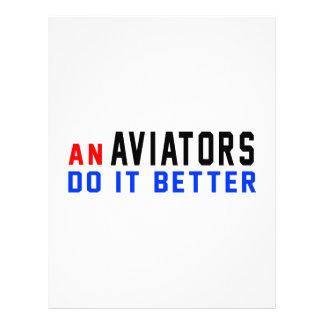 Los aviadores mejora membretes personalizados