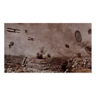 Los aviones acercan a la madera WWI del polígono Tarjetas De Visita