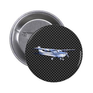 Los aviones croman como la fibra de carbono negra pin redondo de 2 pulgadas