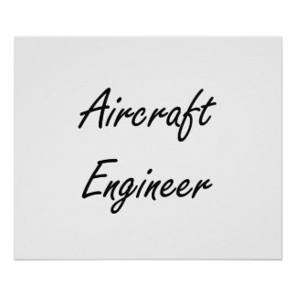 Los aviones dirigen sistema de trabajo artístico póster