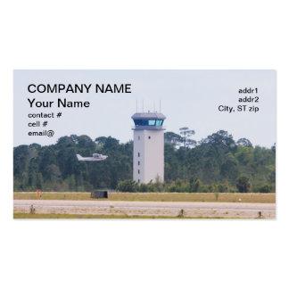 Los aviones ligeros acercan a la torre de control plantilla de tarjeta de negocio