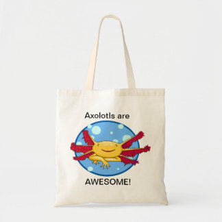 ¡Los Axolotls son impresionantes! Bolso de Bolsa Tela Barata
