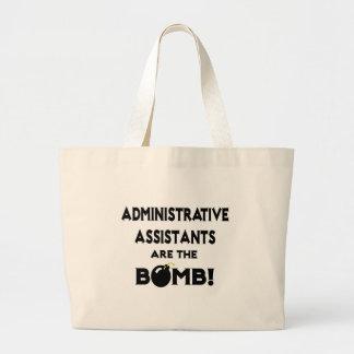 ¡Los ayudantes administrativos son la bomba! Bolsa Tela Grande