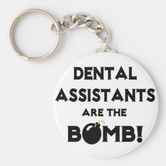 ¡Los ayudantes de dentista son la bomba! Llavero Redondo Tipo Pin