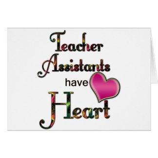 Los ayudantes del profesor tienen corazón tarjetón