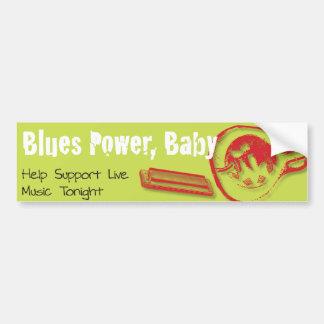 ¡Los azules accionan, bebé! Etiqueta De Parachoque
