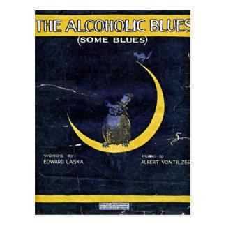 Los azules alcohólicos tarjetas postales