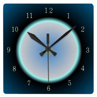 Los azules añiles/la aguamarina/la luna poner reloj cuadrado