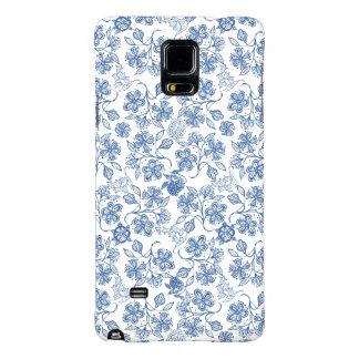 Los azules añiles Samsung floral étnico observan Funda Galaxy Note 4