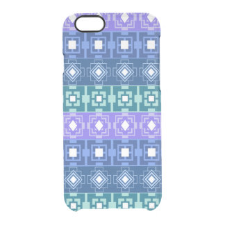 Los azules aztecas del modelo despejan el caso del funda clearly™ deflector para iPhone 6 de uncommon