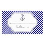 Los azules marinos anclan la tarjeta náutica del plantilla de tarjeta de negocio