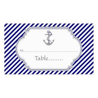 Los azules marinos anclan la tarjeta náutica del tarjetas de visita