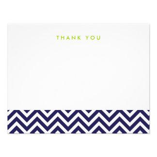 Los azules marinos Chevron simple le agradecen las Comunicados Personales