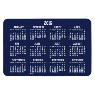 Los azules marinos hacen calendarios 2016 imanes