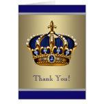 Los azules marinos y el oro reales le agradecen tarjeta pequeña
