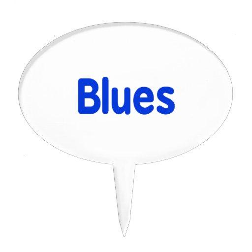 Los azules redactan la música azul design.png decoraciones de tartas