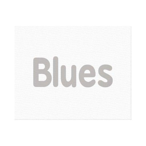 Los azules redactan la música gris design.png lona estirada galerias