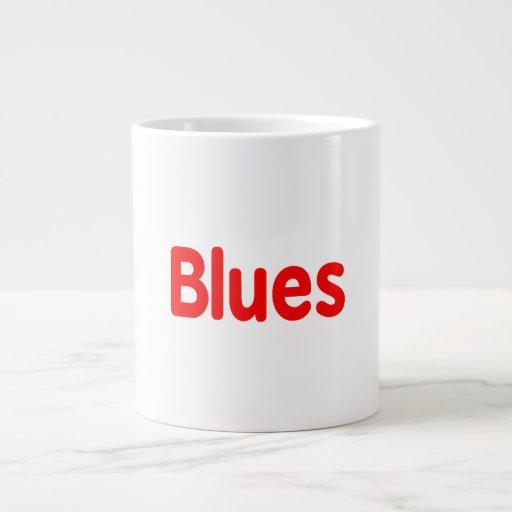 Los azules redactan la música roja design.png taza extra grande