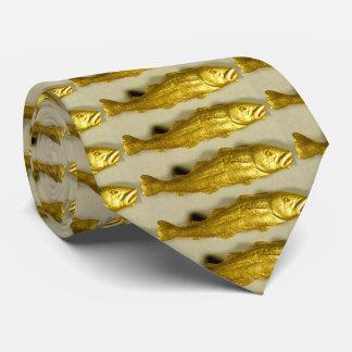 Los bacalaos perfectos congelados en oro se corbatas