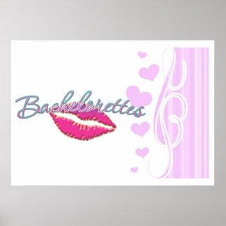 los bachelorettes rosados de los labios van de fie póster