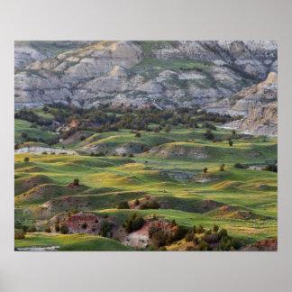 Los badlands coloridos de la colina del dólar pasa impresiones