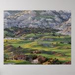 Los badlands coloridos de la colina del dólar pasa póster