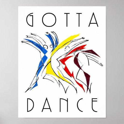 Los bailarines abstractos - consiguió bailar impresiones