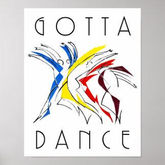 Los bailarines abstractos que bailaban - consiguió póster