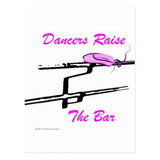 Los bailarines aumentan la barra (para los tarjeta postal