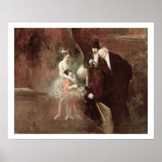 Los bailarines, c.1925 (aceite en lona) posters