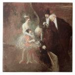 Los bailarines, c.1925 (aceite en lona) tejas