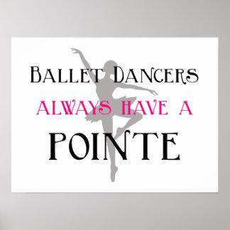 Los bailarines de ballet tienen siempre un poster/