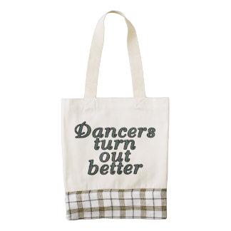 Los bailarines resultan mejor bolsa tote zazzle HEART