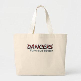 Los bailarines resultan mejor en rojo bolsas lienzo