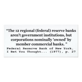 Los bancos de Federal Reserve no son gobierno Anuncio