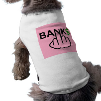 Los bancos de la ropa del perro corrompen playera sin mangas para perro