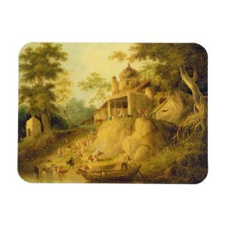 Los bancos del Ganges, c.1820-30 (aceite en lona) Imán