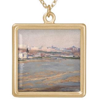 Los bancos del río Manzanares, 1912 (aceite en el  Colgante Cuadrado