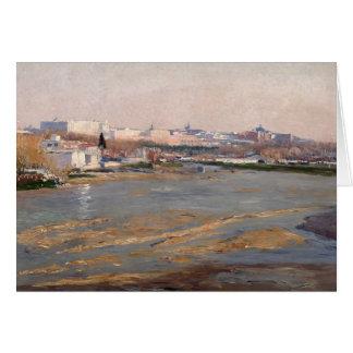 Los bancos del río Manzanares, 1912 (aceite en el  Tarjeta De Felicitación