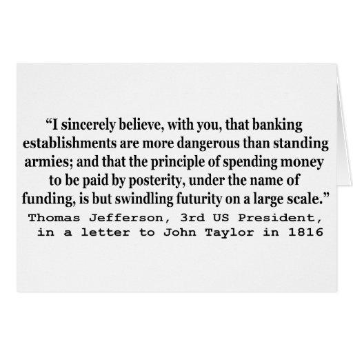 Los bancos son más peligrosos que los ejércitos de felicitaciones
