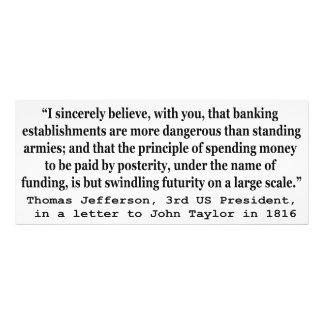 Los bancos son más peligrosos que los ejércitos fotografía